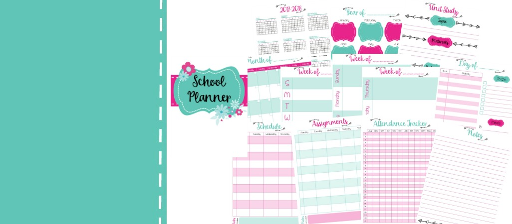 Free Homeschool Planner Pages  Daily Weekly And Monthly Pages